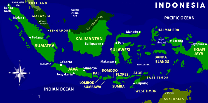 Indonesien Karte.Karte Von Indonesien Magellan Travel